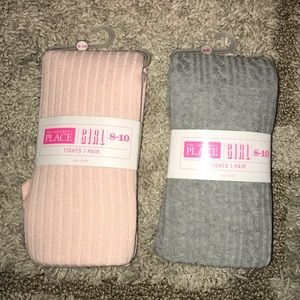 Two pairs of girls tights